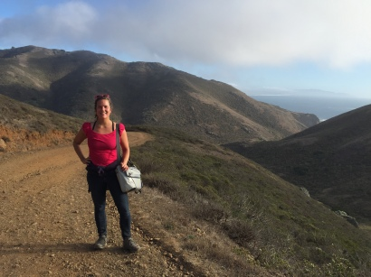 Me nearing the end of my (more than) marathon-long hiking weekend in November 2015 in Marin County. Went solo; felt great! Credit: Miranda Leitsinger